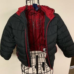 Nike little boy black and red puffer cost 6/M
